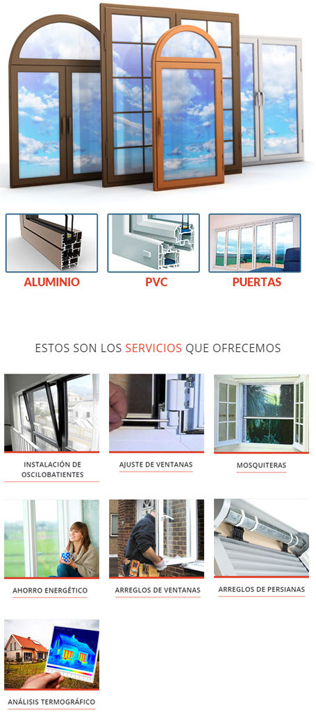 Arreglo ventanas pvc materiales de construcci n para la for Reparacion de ventanas de aluminio